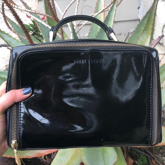 Bobbi Brown Bags | Black Patent Luce Travel Makeup Bag ...